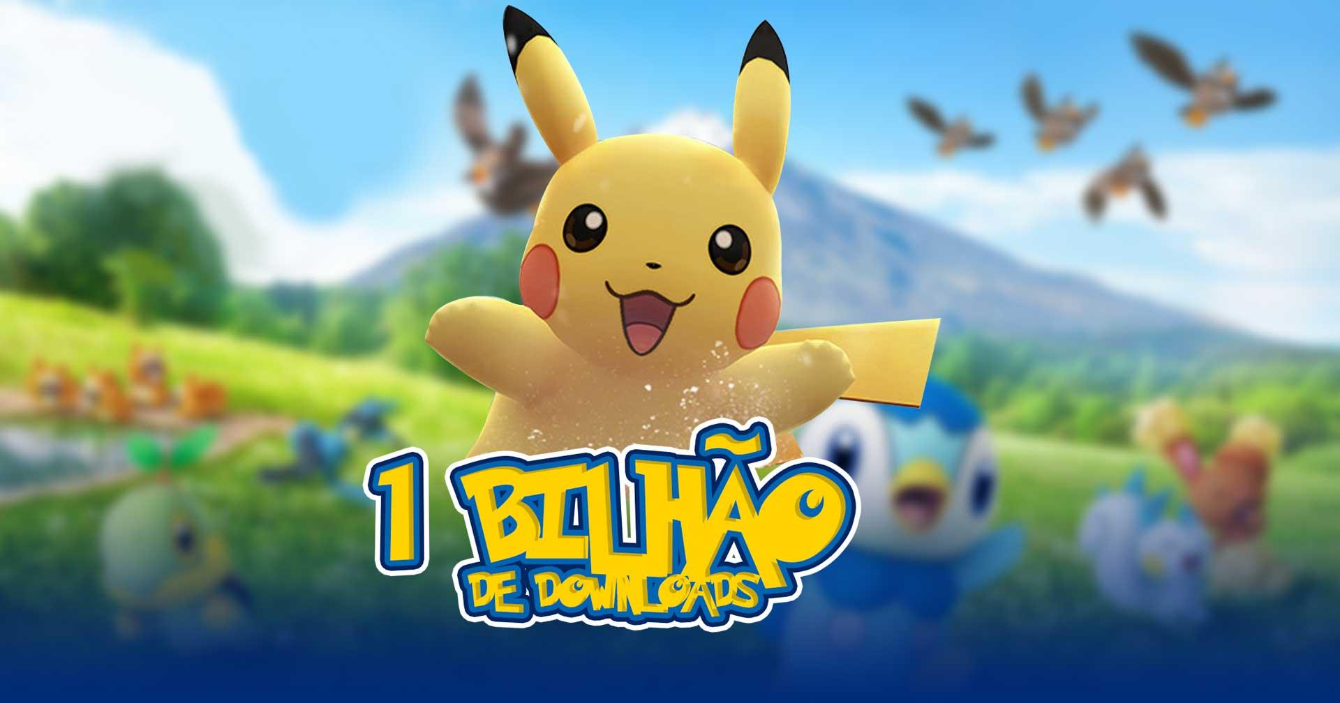 Pokémon GO Atinge 1 Bilhão de Downloads
